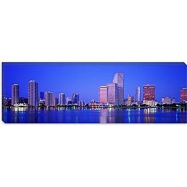 iCanvas Dusk, Miami Florida Photographic Print on Canvas; 16'' H x 48'' W x 0.75'' D