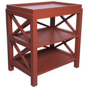 Muse Sulivan End Table; Rave Red