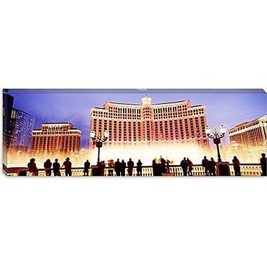 iCanvas Panoramic Bellagio Resort And Casino, Las Vegas, Nevada Photographic Print on Canvas