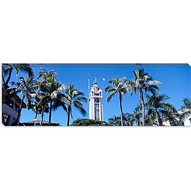 iCanvas Panoramic Aloha Tower, Oahu, Honolulu, Hawaii Photographic Print on Canvas