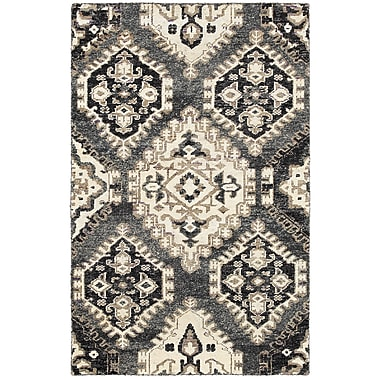 LR Resources Rajani Gray Rug; 5'3'' x 7'5''