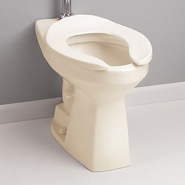 Toto High Efficiency Commercial Floor Mounted Flushometer 1.28 GPF Elongated Toilet Bowl; Bone