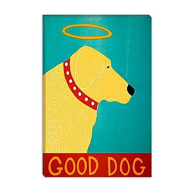 iCanvas Good Dog by Stephen Huneck Graphic Art on Canvas; 26'' H x 18'' W x 0.75'' D