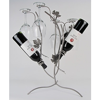 Metrotex Designs French Vineyard 3 Bottle Tabletop Wine Rack
