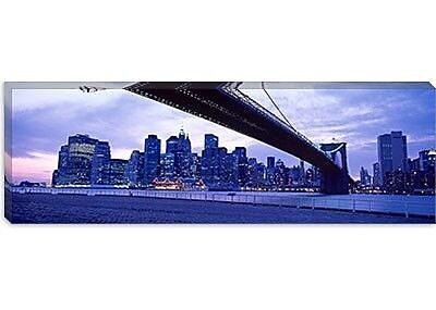 iCanvas Panoramic Brooklyn Bridge, New York Photographic Print on Canvas; 20'' H x 60'' W x 0.75'' D