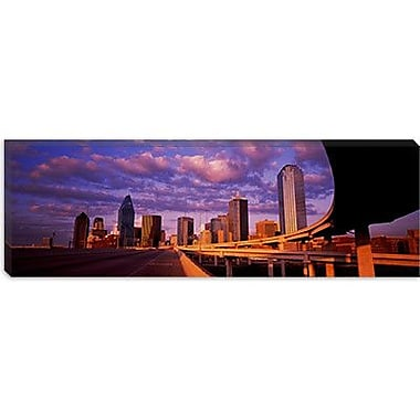 iCanvas Panoramic Skyscrapers in a City, Dallas, Texas Photographic Print on Canvas