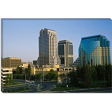 iCanvas Panoramic Skyscrapers in a City, Sacramento, California Photographic Print on Canvas