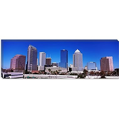 iCanvas Panoramic Skyscrapers in a City, Tampa, Florida Photographic Print on Canvas
