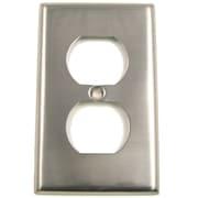 Rusticware Single Recep Switch Plate; Satin Nickel