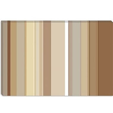 iCanvas Striped Cafe Mocha Graphic Art on Canvas; 26'' H x 40'' W x 1.5'' D