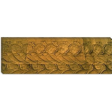 iCanvas Panoramic Bas Relief in a Temple in Angkor Wat, Cambodia Photographic Print on Canvas