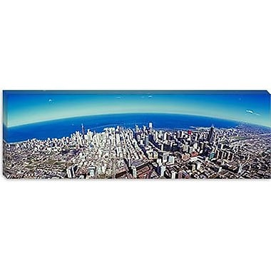 iCanvas Panoramic Aerial view of Chicago, Illinois Photographic Print on Canvas