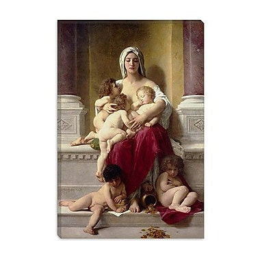 iCanvas 'Charity' by William-Adolphe Bouguereau Painting Print on Canvas; 12'' H x 8'' W x 0.75'' D