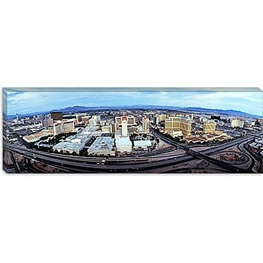 iCanvas Panoramic Aerial View of a City, Las Vegas, Nevada Photographic Print on Canvas