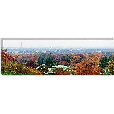iCanvas Panoramic Arlington National Cemetery, Washington DC Photographic Print on Canvas