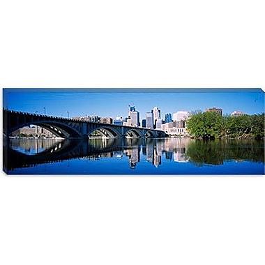 iCanvas Panoramic Arch Bridge Across, Minneapolis Photographic Print on Canvas