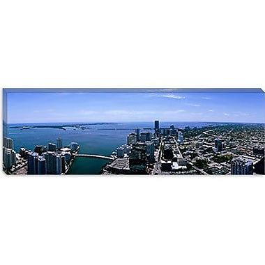 iCanvas Panoramic Aerial View of a City, Miami, Florida Photographic Print on Canvas