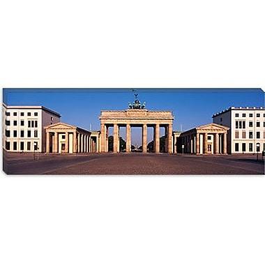 iCanvas Panoramic Building, Brandenburg Gate, Berlin, Germany Photographic Print on Canvas
