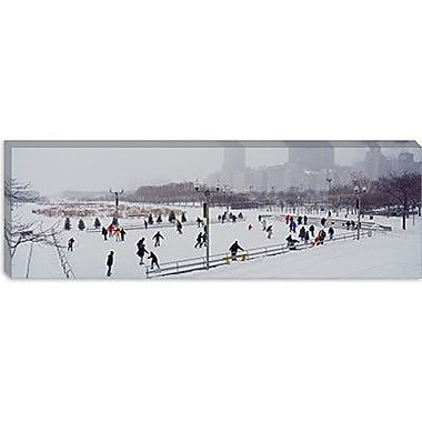 iCanvas Panoramic Bicentennial Park, Chicago, Illinois Photographic Print on Canvas