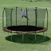 Skywalker Camo 15' Round Trampoline and Enclosure by