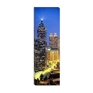iCanvas Panoramic Skyscrapers Lit up at Night, Atlanta, Georgia Photographic Print on Canvas