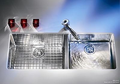 Franke Kubus 42.94'' x 17.94'' Double Bowl Kitchen Sink