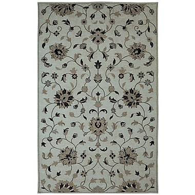 Dynamic Rugs Element Grey Floral Area Rug; 5' x 8'