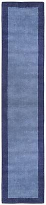 St. Croix Pulse Blue Border Rug; Runner 2'6'' x 12'