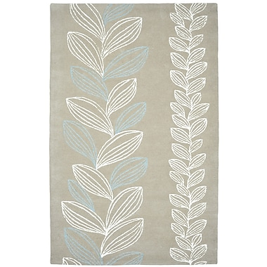 Dynamic Rugs Palace Grey/Ivory Floral Area Rug; 8' x 11'