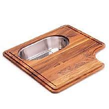 Franke Pro-Series Wood Cutting Board w/ Steel Colander in Teak