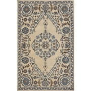 Dynamic Rugs Sapphire Ivory / Gray Oriental Area Rug; 5' x 8'