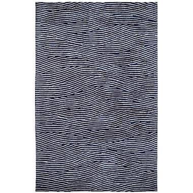 Dynamic Rugs Celeste Silver / Blue Rug; Rectangle 5' x 8'