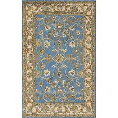Dynamic Rugs Sapphire Blue / Ivory Oriental Area Rug; 3'6'' x 5'6''