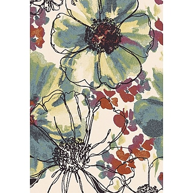 Dynamic Rugs Infinity Floral Area Rug; Rectangle 6'7'' x 9'6''
