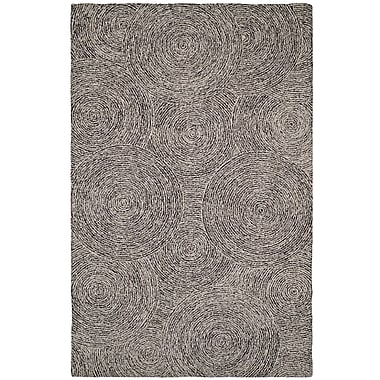 Dynamic Rugs Polar Ivory/Black Geometric Area Rug; 5' x 8'