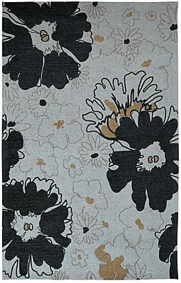 Dynamic Rugs Element Black/Grey Floral Area Rug; 5' x 8'