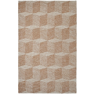 Dynamic Rugs Polar Ivory/Gold Chevron Area Rug; 2' x 4'