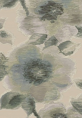 Dynamic Rugs Eclipse Grey Floral Area Rug; Rectangle 2' x 3'11''