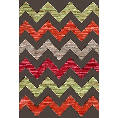 Dynamic Rugs Infinity Chervon Area Rug; Rectangle 7'10'' x 11'2''