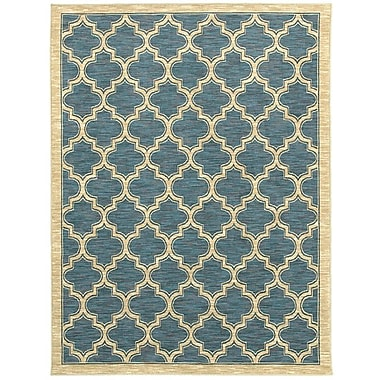 Dynamic Rugs Yazd Geometric Slate Area Rug; Runner 2' x 7'7''