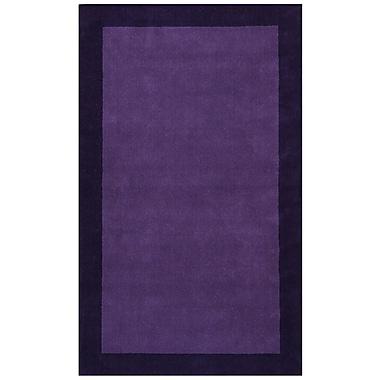 St. Croix Pulse Purple Border Rug; 5' x 8'