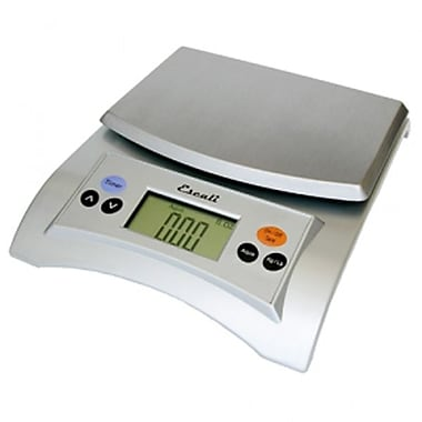 Escali Aqua Digital Scale, 11 Lb 5 Kg, Silver