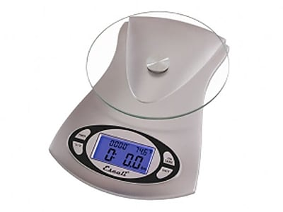 Escali Vitra Glass Top Scale, 11 Lb 5 Kg