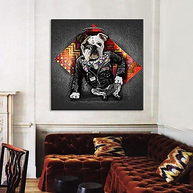 iCanvas 'Bad Dog' by Maximilian San Graphic Art on Canvas; 18'' H x 18'' W x 0.75'' D