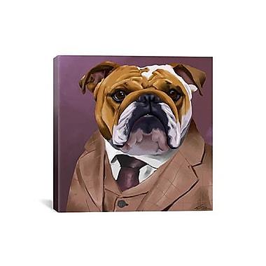 iCanvas 'Bull Dog 2_003' by Brian Rubenacker Graphic Art on Canvas; 12'' H x 12'' W x 1.5'' D