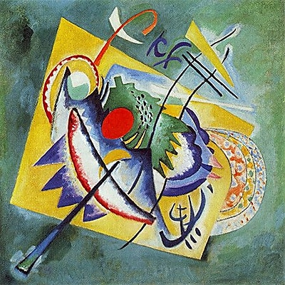 iCanvas 'Red Oval' by Wassily Kandinsky Painting Print on Canvas; 37'' H x 37'' W x 1.5'' D