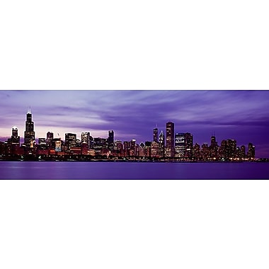 iCanvas Panoramic Skyscrapers Photographic Print on Canvas; 12'' H x 36'' W x 1.5'' D