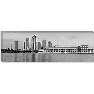 iCanvas Tampa Panoramic Skyline Cityscape Photographic Print on Canvas; 16'' H x 48'' W x 1.5'' D