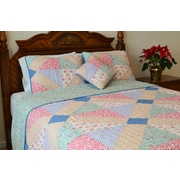 J&J Bedding Angie Patchwork Reversible Quilt; Queen