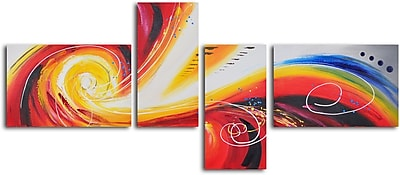 My Art Outlet Eye of Rainbow Storm' 4 Piece Painting on Wrapped Canvas Set